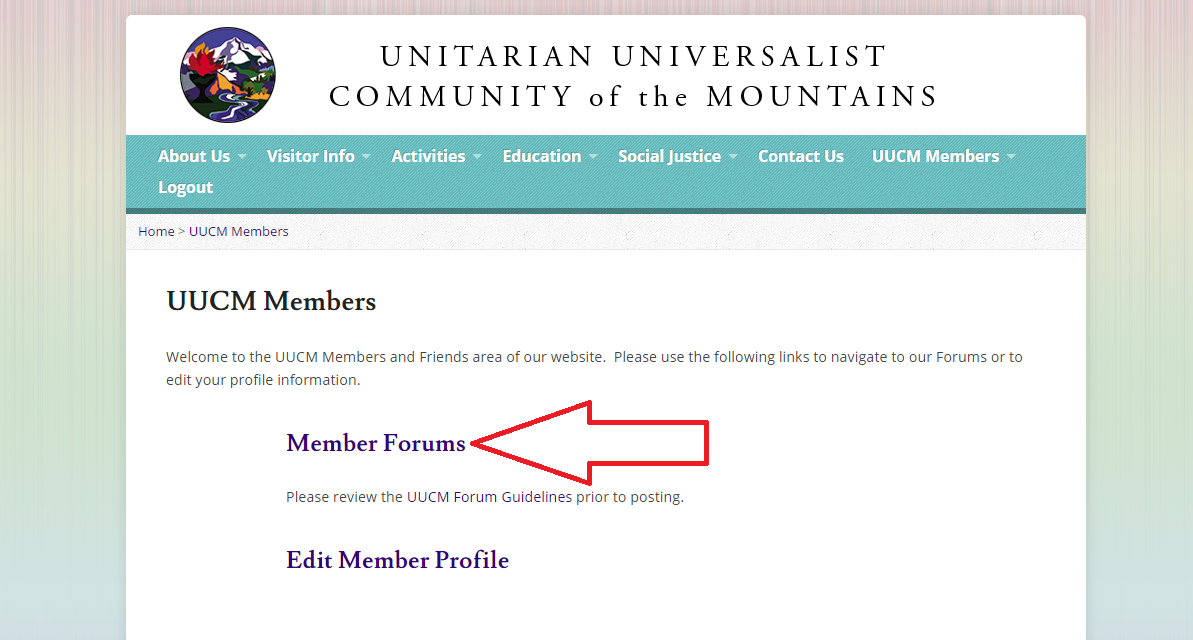 Member forum from page