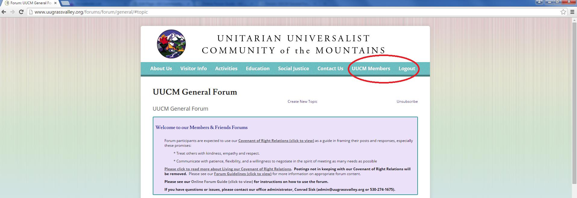 UUCM Members